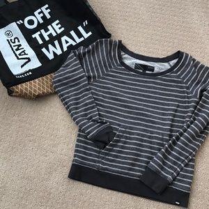 Vans grey striped sweatshirt for junior girls sz S